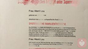 家庭治疗师注册证明