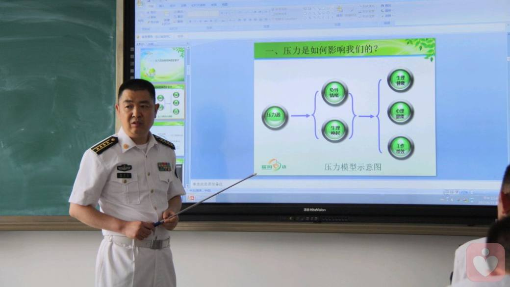 在潜艇学院进行压力管理讲座