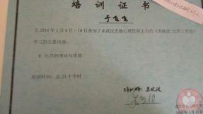 比昂~苏晓波工作坊结业证书
